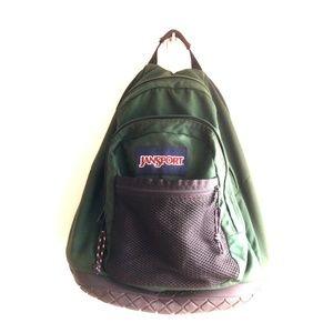 Vintage Jansport Backpack Rubber Bottom Green
